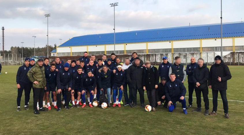 """Ультрас """"Динамо"""" відвідали тренування команди перед грою з """"Олімпіакосом"""""""