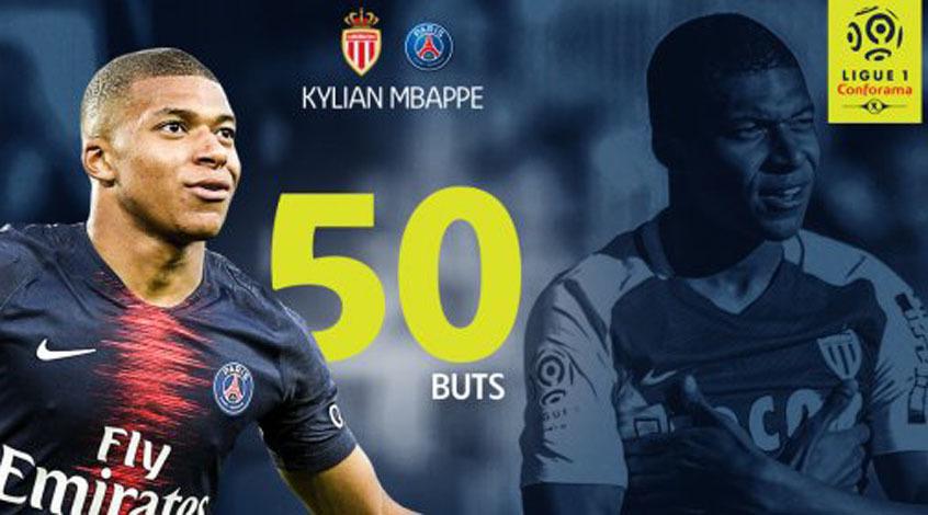 Кильян Мбаппе покорил планку в 50 голов в Лиге 1