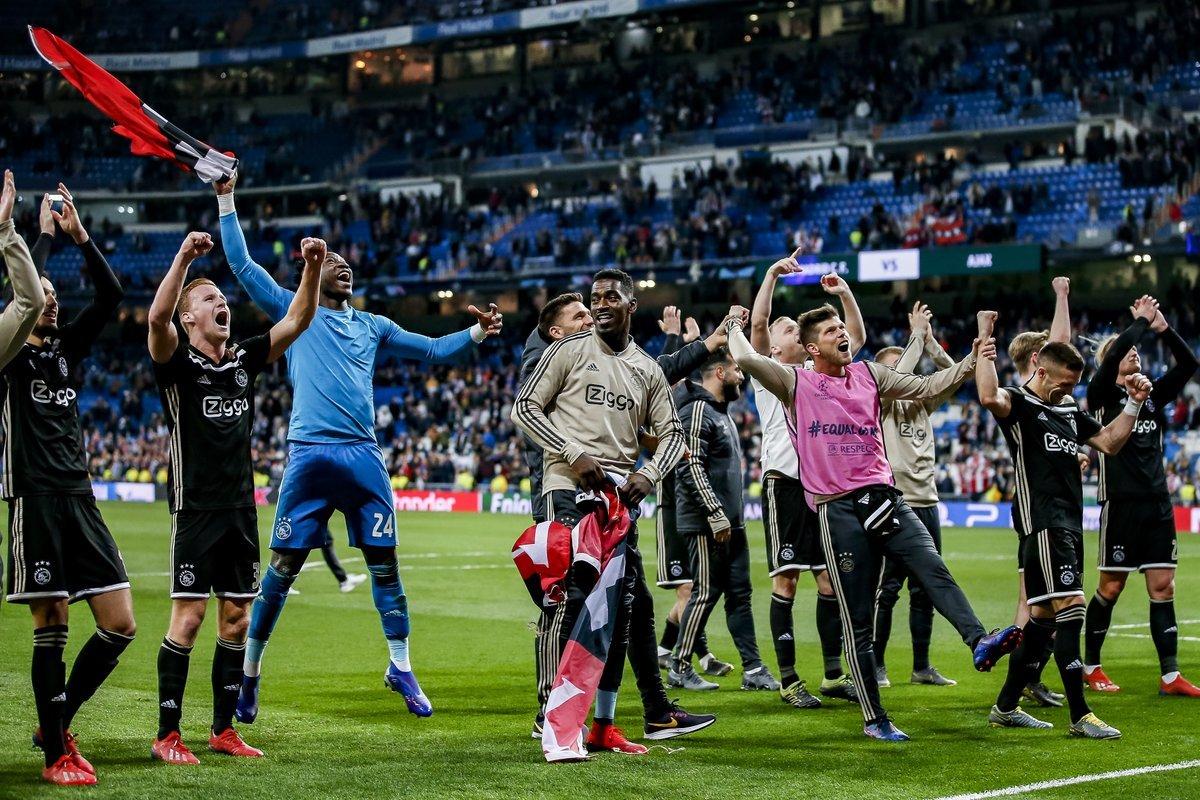 """Фото дня: как """"Аякс"""" отпраздновал победу над """"Реалом"""" - изображение 2"""
