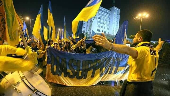 Український день у Лісабоні: фанати та збірна (Фото, Відео) - изображение 1