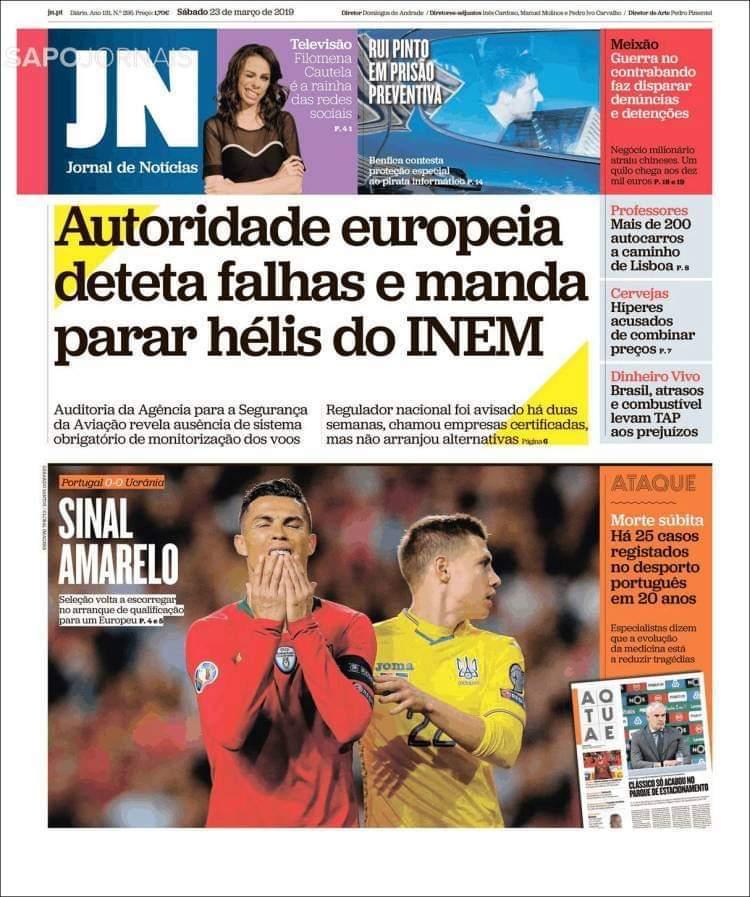 Матвієнко на обкладинках провідних португальських ЗМІ: коли граєш проти Роналду (Фото) - изображение 2