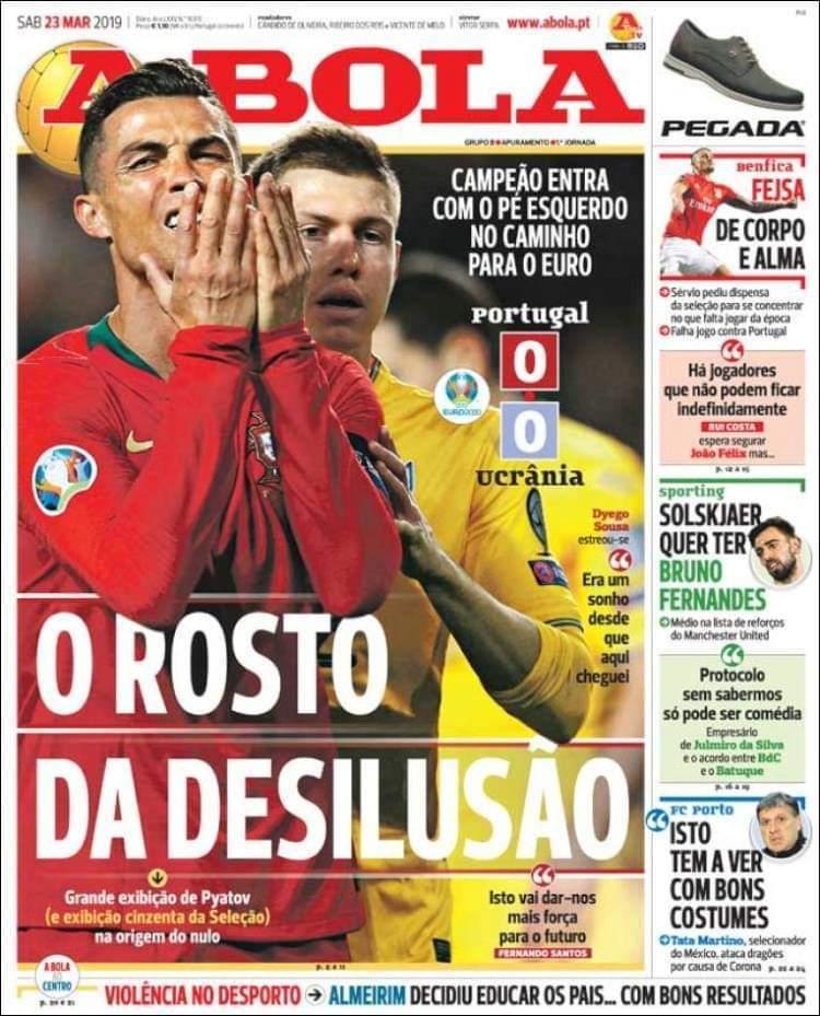 Матвієнко на обкладинках провідних португальських ЗМІ: коли граєш проти Роналду (Фото) - изображение 3