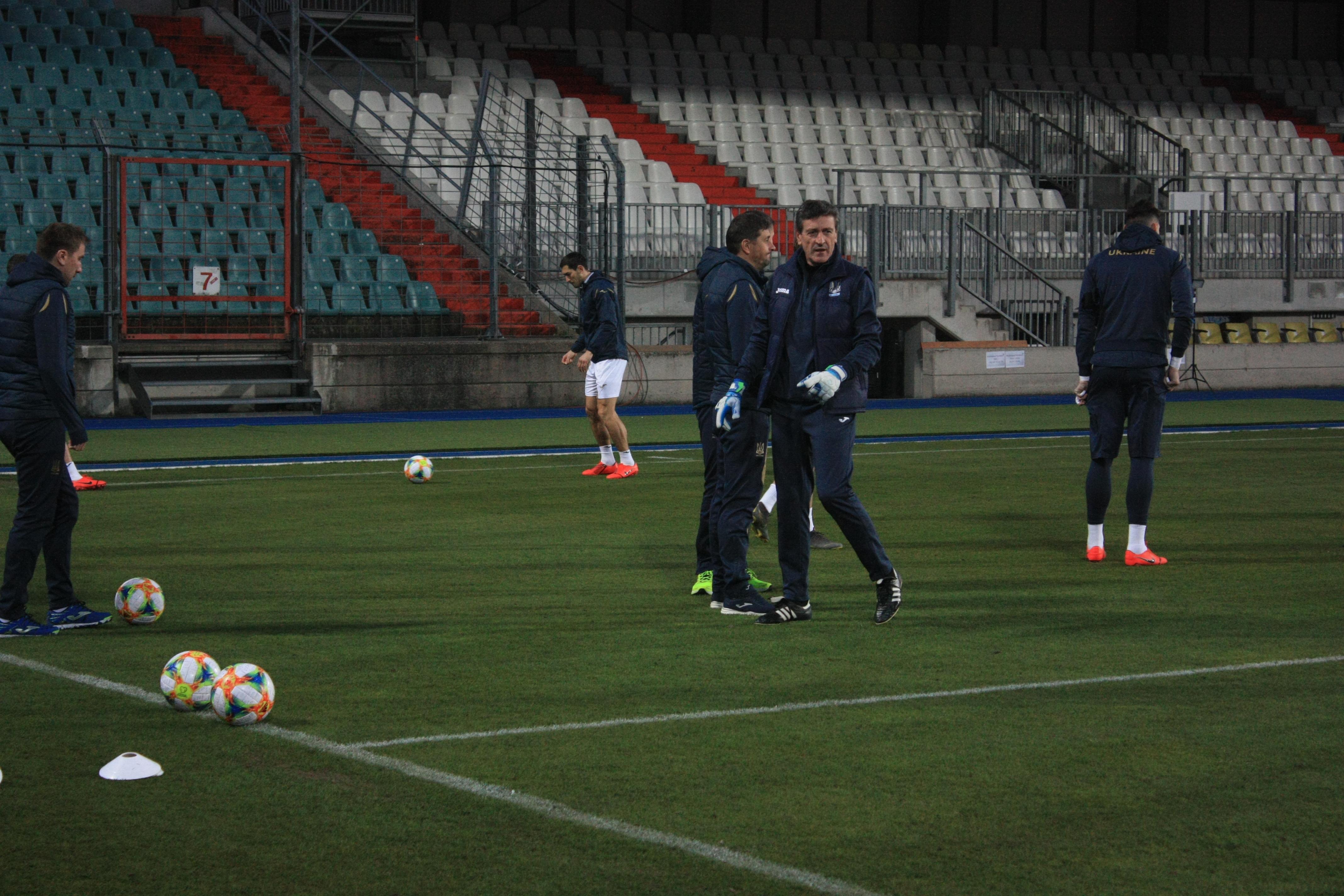 Открытая тренировка сборной Украины в Люксембурге (Фото) - изображение 1