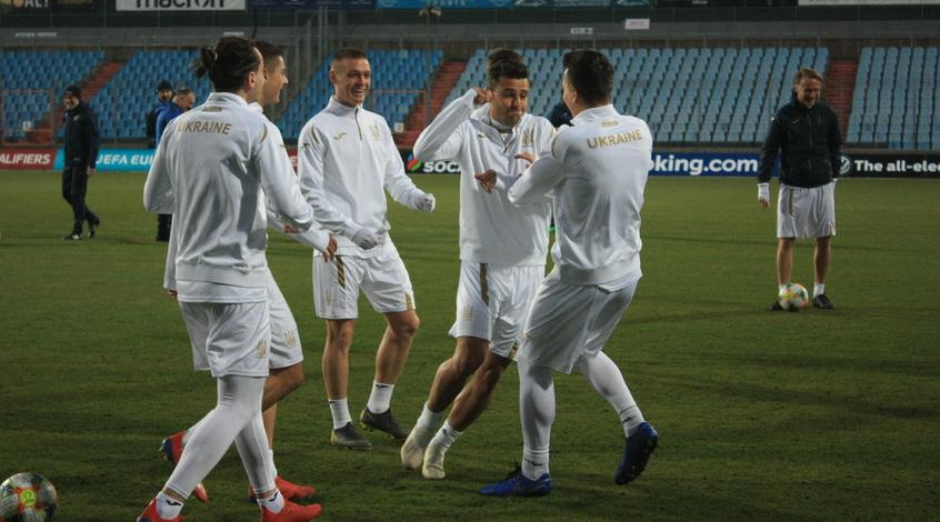 Открытая тренировка сборной Украины в Люксембурге (Фото)