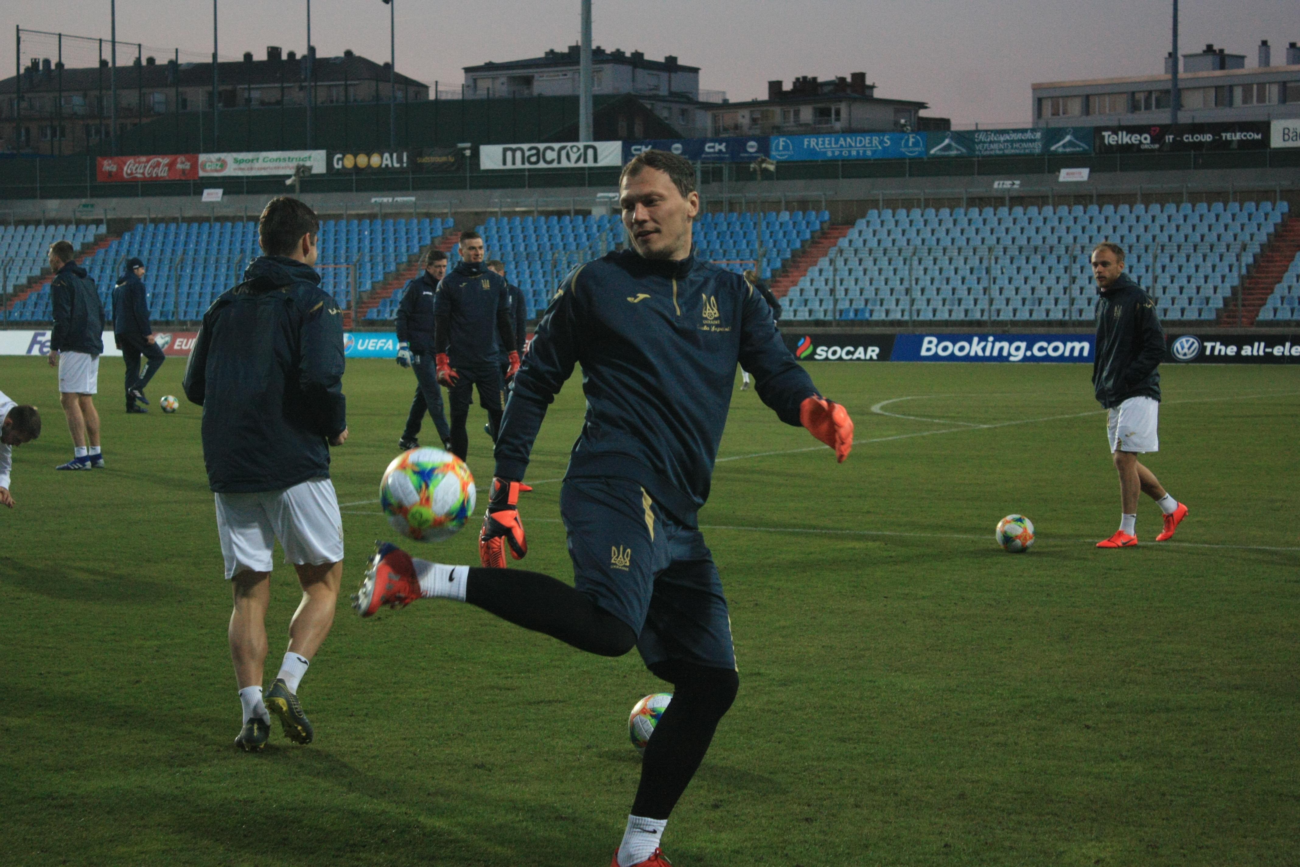 Открытая тренировка сборной Украины в Люксембурге (Фото) - изображение 3