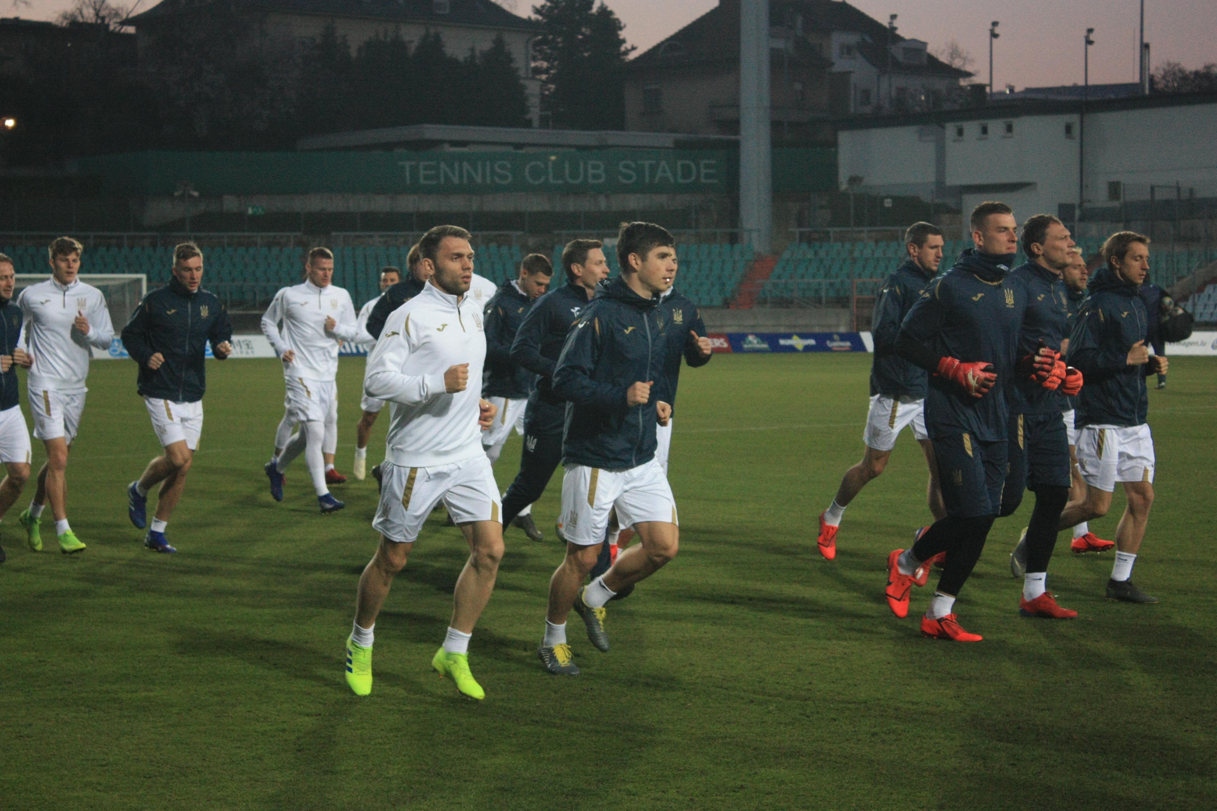 Открытая тренировка сборной Украины в Люксембурге (Фото) - изображение 4