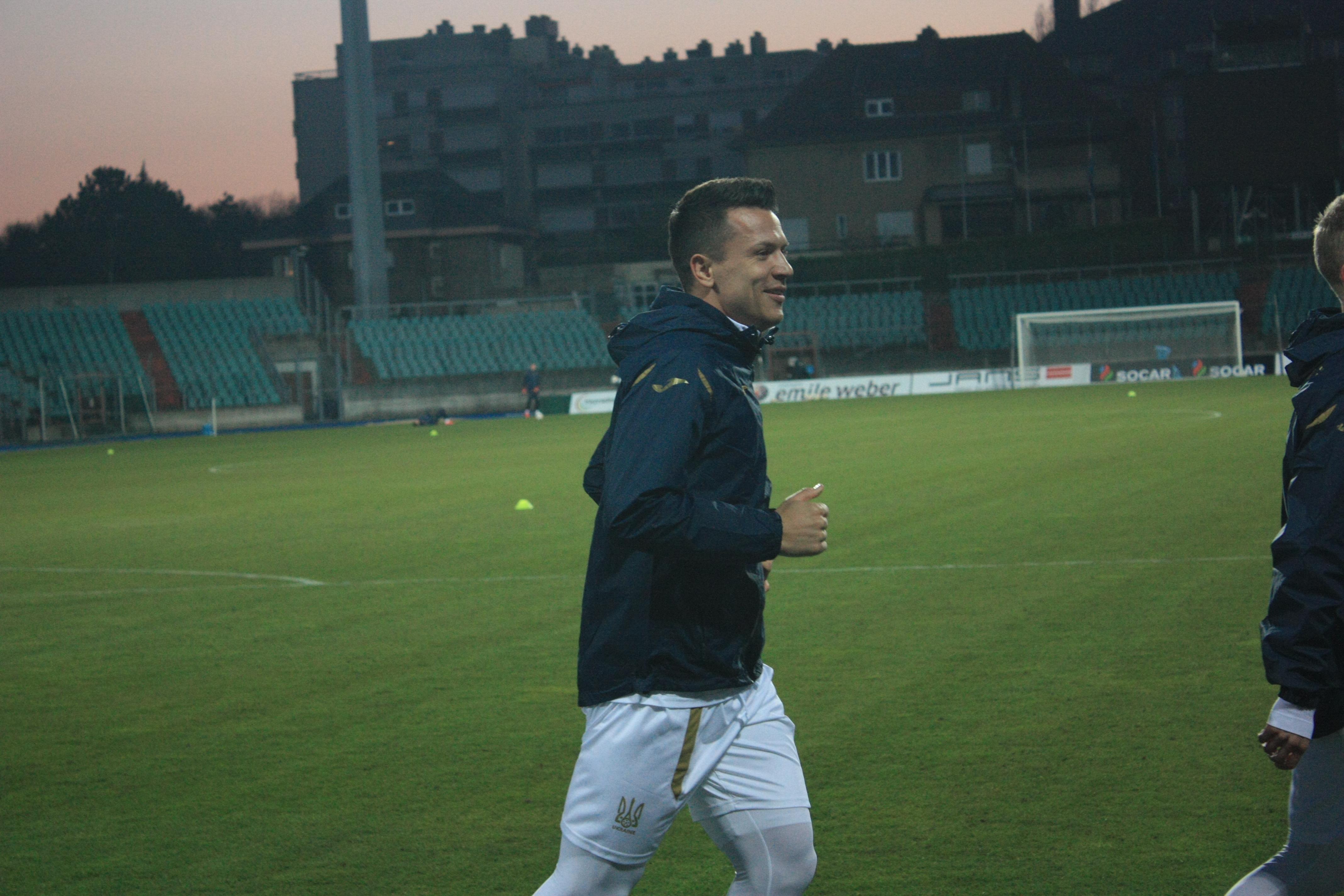 Открытая тренировка сборной Украины в Люксембурге (Фото) - изображение 11