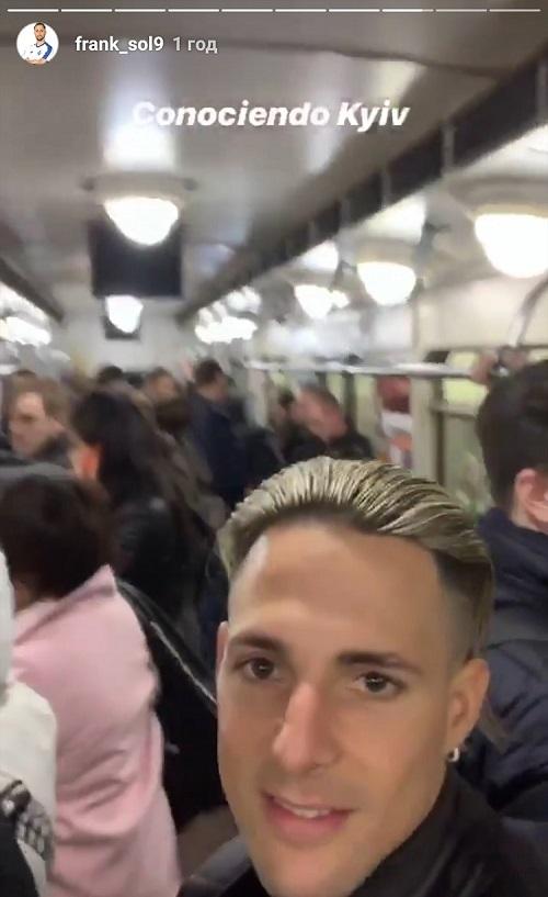 Фран Соль прокатился в киевском метро (Фото) - изображение 1
