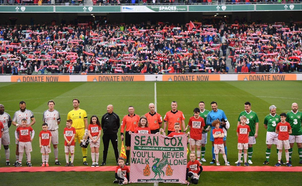 """You'll Never Walk Alone: """"Ливерпуль"""" провел благотворительный матч ради своего болельщика Шона Кокса (+Фото, Видео) - изображение 3"""