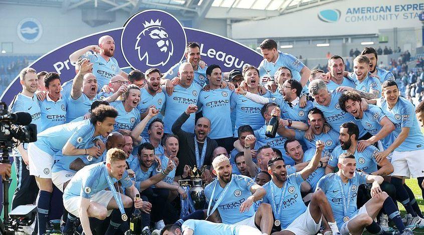 Манчестер сити чемпион англии видео