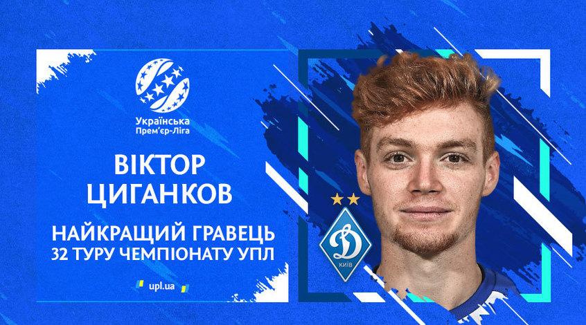 Экспертный совет УПЛ назвал имя лучшего игрока 32-го тура чемпионата Украины