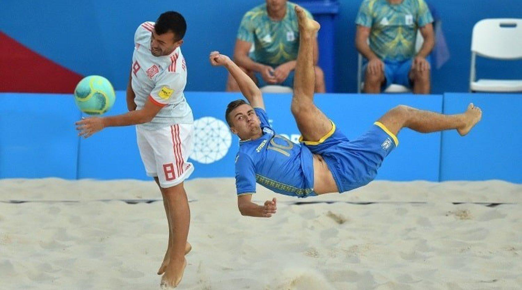 """Пляжний футбол. Іспанія- Україна4:6. """"Синьо-жовті"""" - у півфіналі!"""