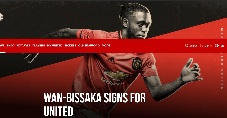 """Официально: Аарон Ван-Биссака перешел в """"Манчестер Юнайтед"""" - изображение 1"""
