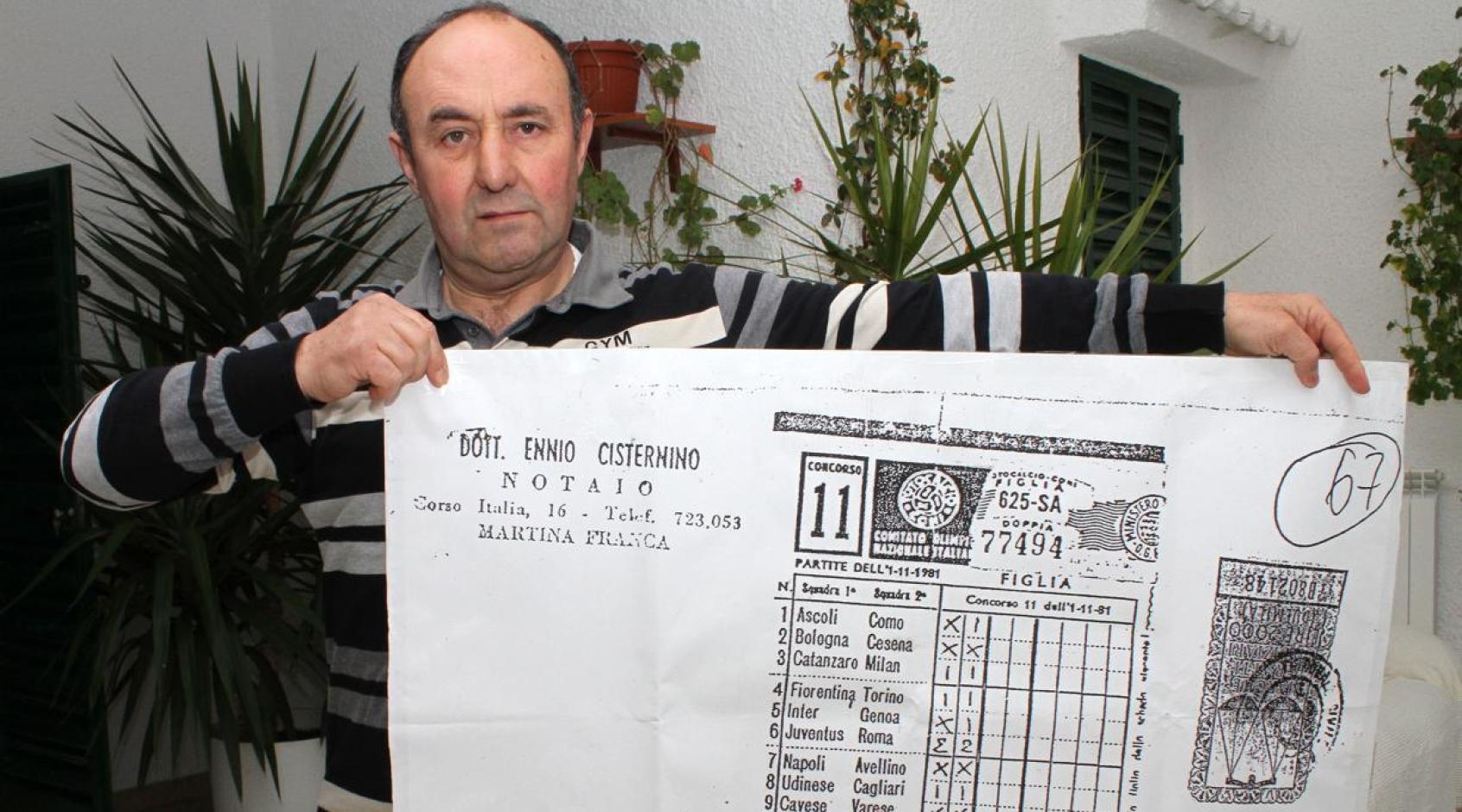 Борьба за выигрыш в TotoCalcio длиною в 37 лет. Загадочное дело Мартино Шьяльпи