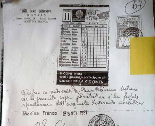 Борьба за выигрыш в TotoCalcio длиною в 37 лет. Загадочное дело Мартино Шьяльпи - изображение 1