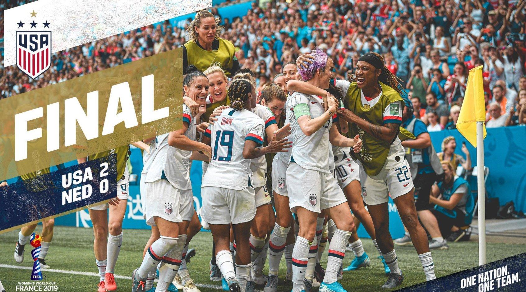 Женская сборная США - чемпион мира-2019!