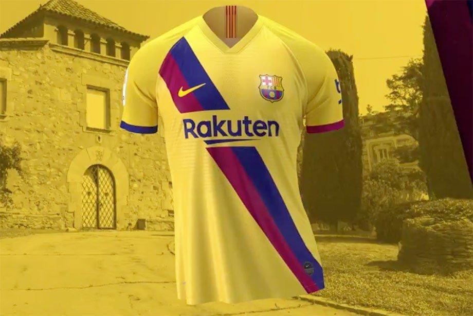 """В стиле ретро: """"Барселона"""" представила гостевую форму на сезон-2019/20 - изображение 1"""