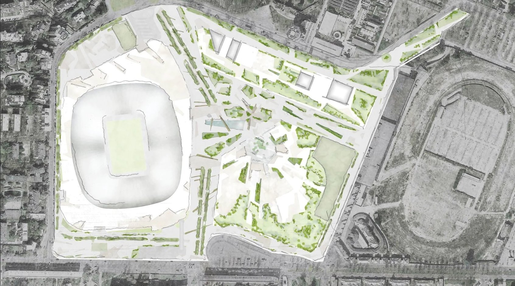 "60 000 мест за 1,2 млрд. евро, - ""Милан"" и ""Интер"" согласовали проект нового стадиона"