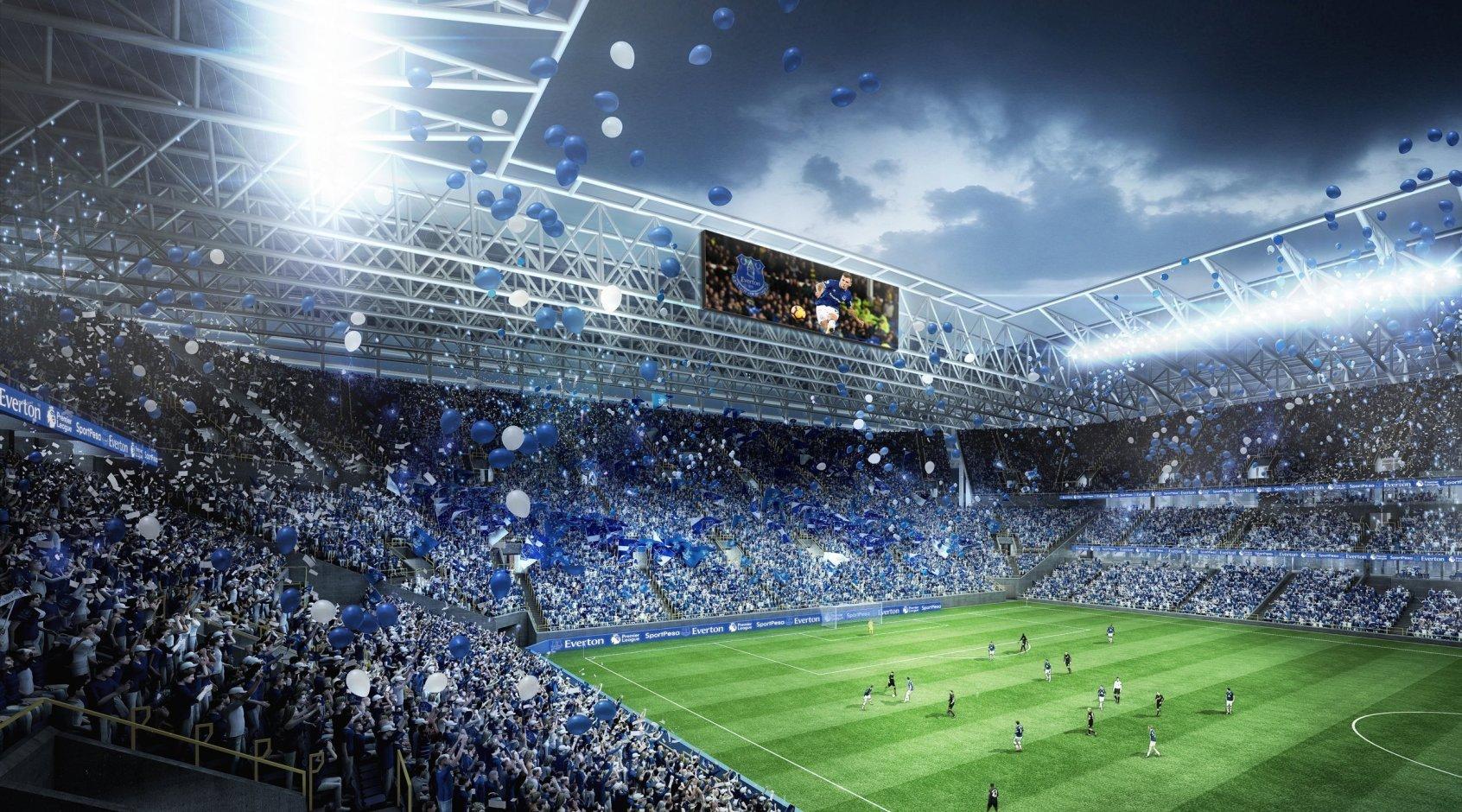 """""""Эвертон"""" представил дизайн нового стадиона команды"""