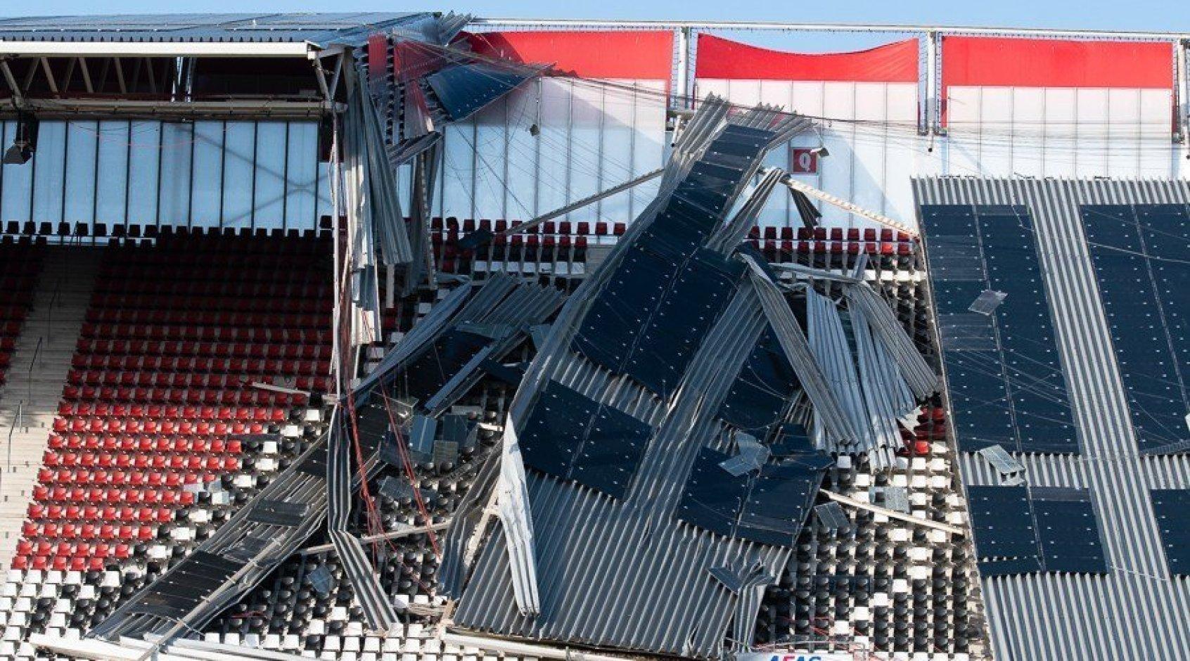 Обрушение крыши на стадионе АЗ: когда вопросов больше, чем ответов (+Фото, Видео)