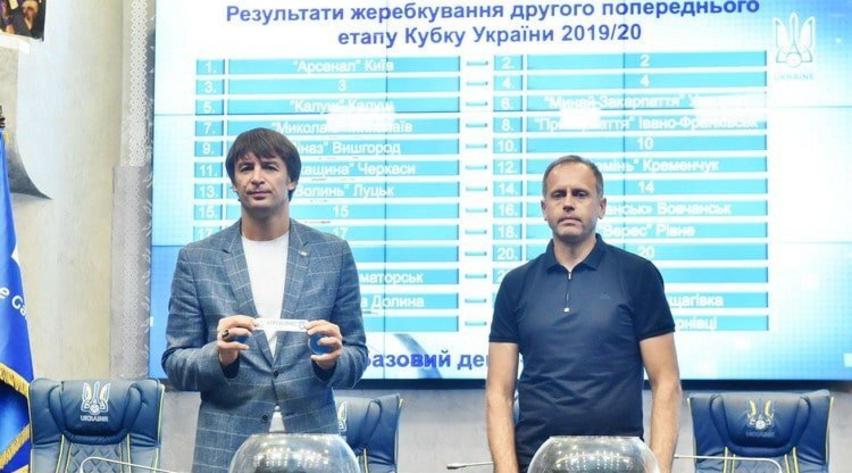 Відбулося жеребкування другого попереднього етапу Кубку України сезону-2019/2020