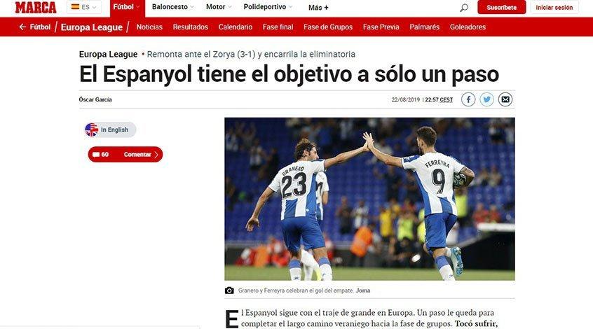 """""""Эспаньол"""" – """"Заря"""". Обзор испанских СМИ"""