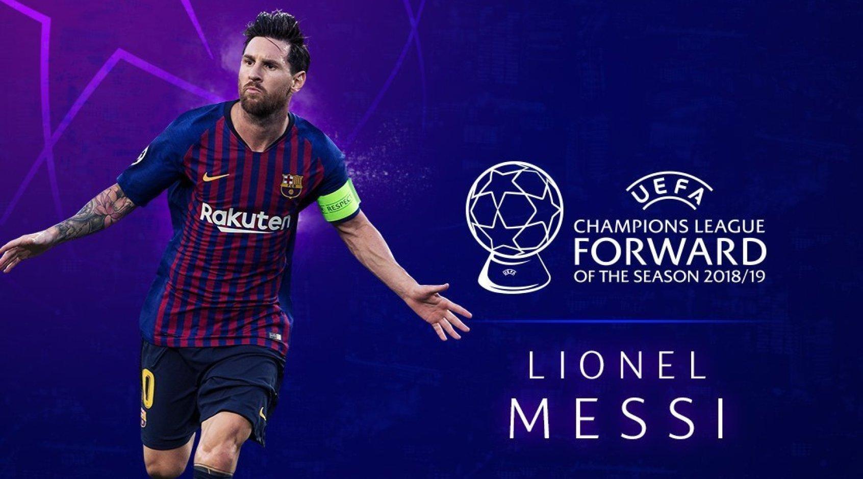 Лионель Месси - лучший нападающий Лиги чемпионов сезона 2018/2019