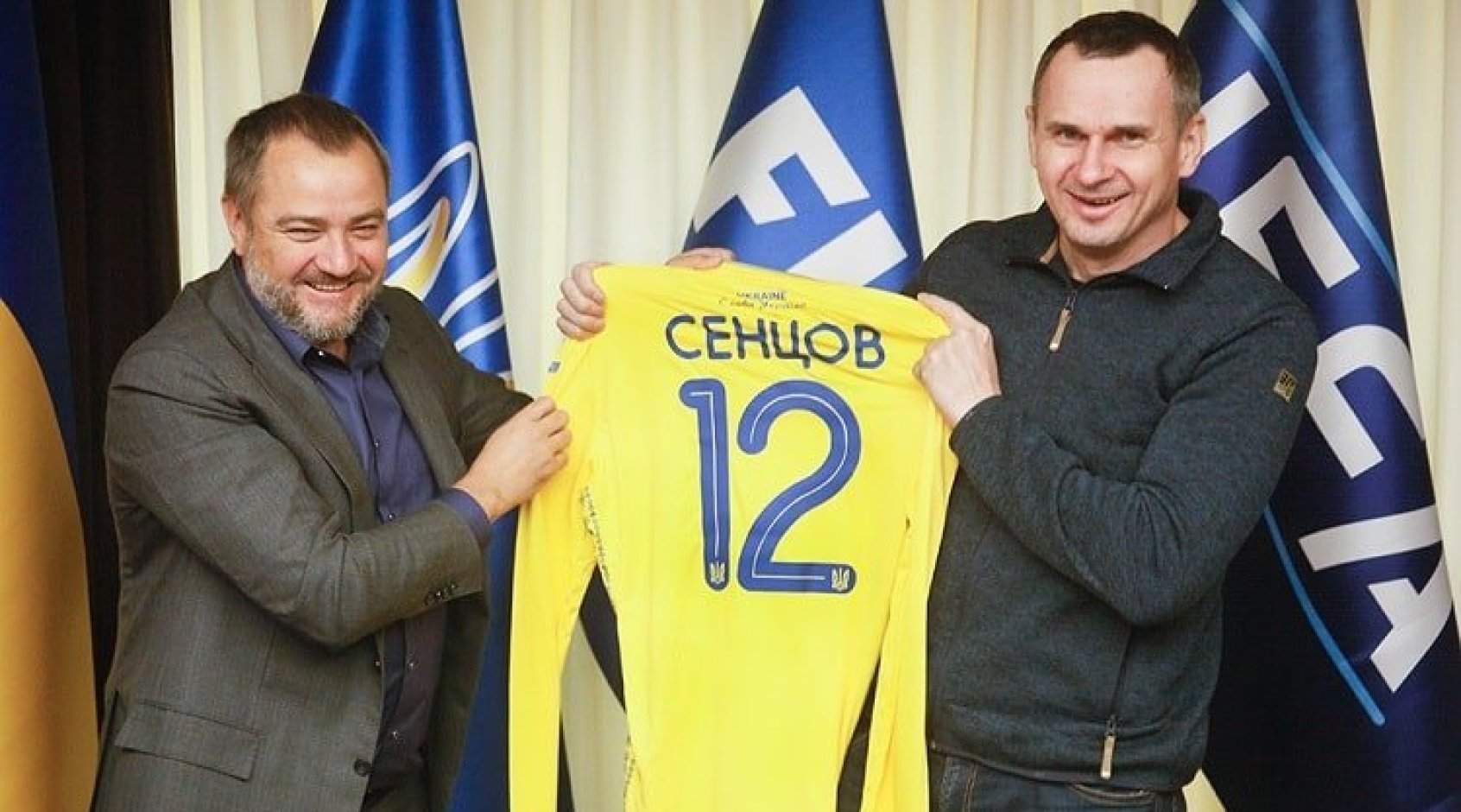 Андрій Павелко зустрівся з Олегом Сенцовим