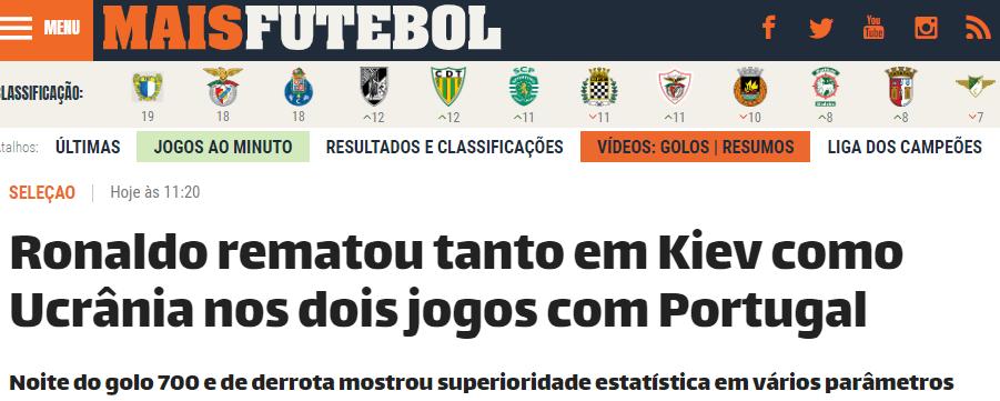 Украина – Португалия: обзор португальских СМИ - изображение 1