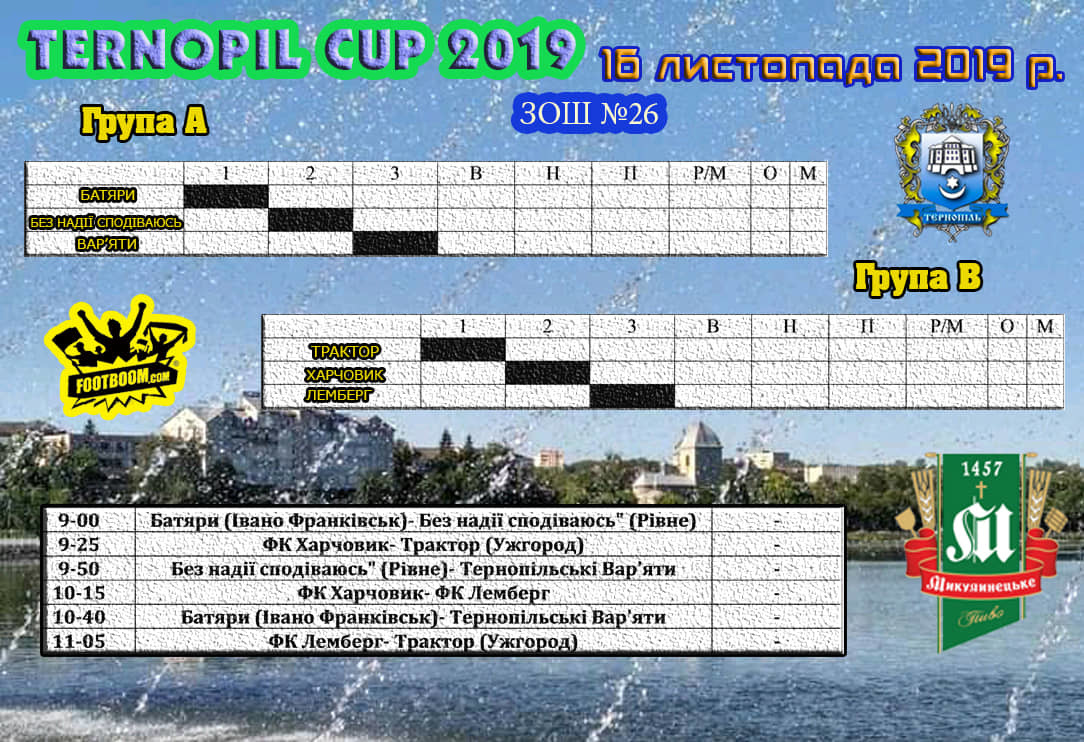 Ternopil Cup 2019: гостинний листопад у Файному Місті! - изображение 2