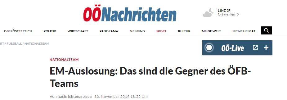 Жеребьевка Евро-2020: обзор австрийских СМИ - изображение 2
