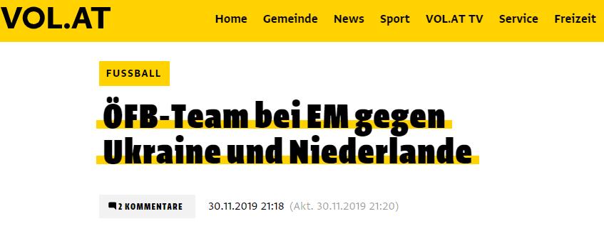 Жеребьевка Евро-2020: обзор австрийских СМИ - изображение 3