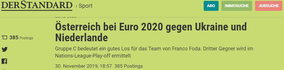 Жеребьевка Евро-2020: обзор австрийских СМИ - изображение 4