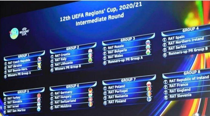 Кубок регіонів УЄФА-2020/2021: Україна дізналася своїх суперників у кваліфікації турніру