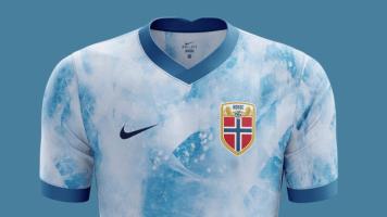 Новая форма сборной Норвегии с принтом в виде айсберга (Фото)