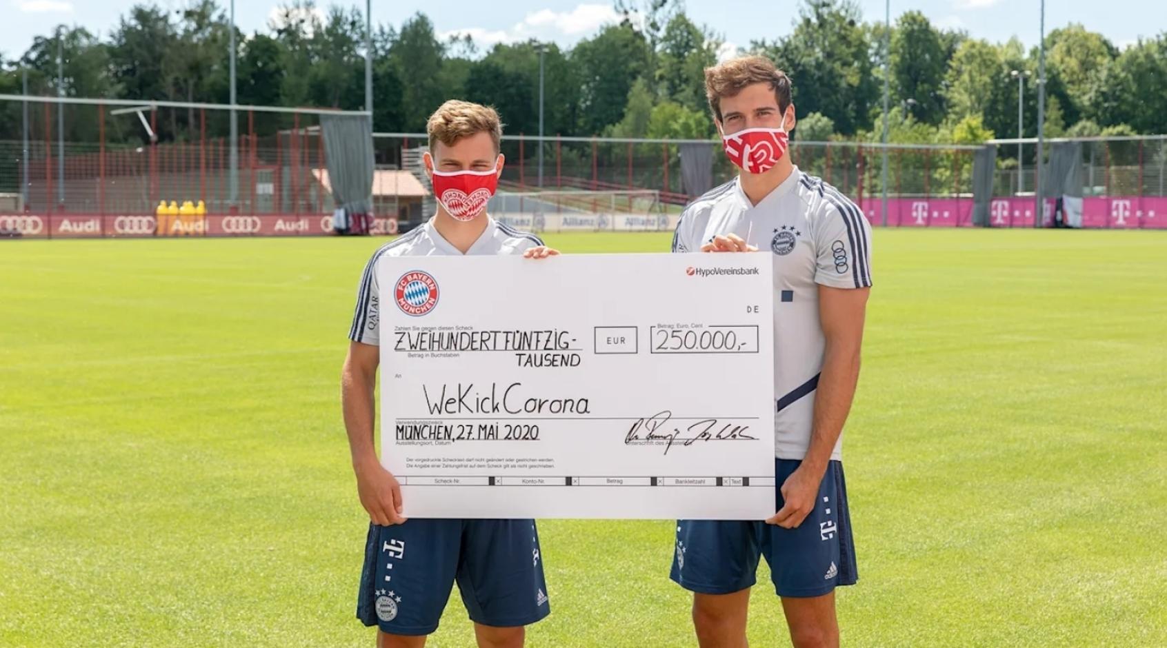 """""""Бавария"""" пожертвовала 250 000 евро, вырученных от продаж масок"""