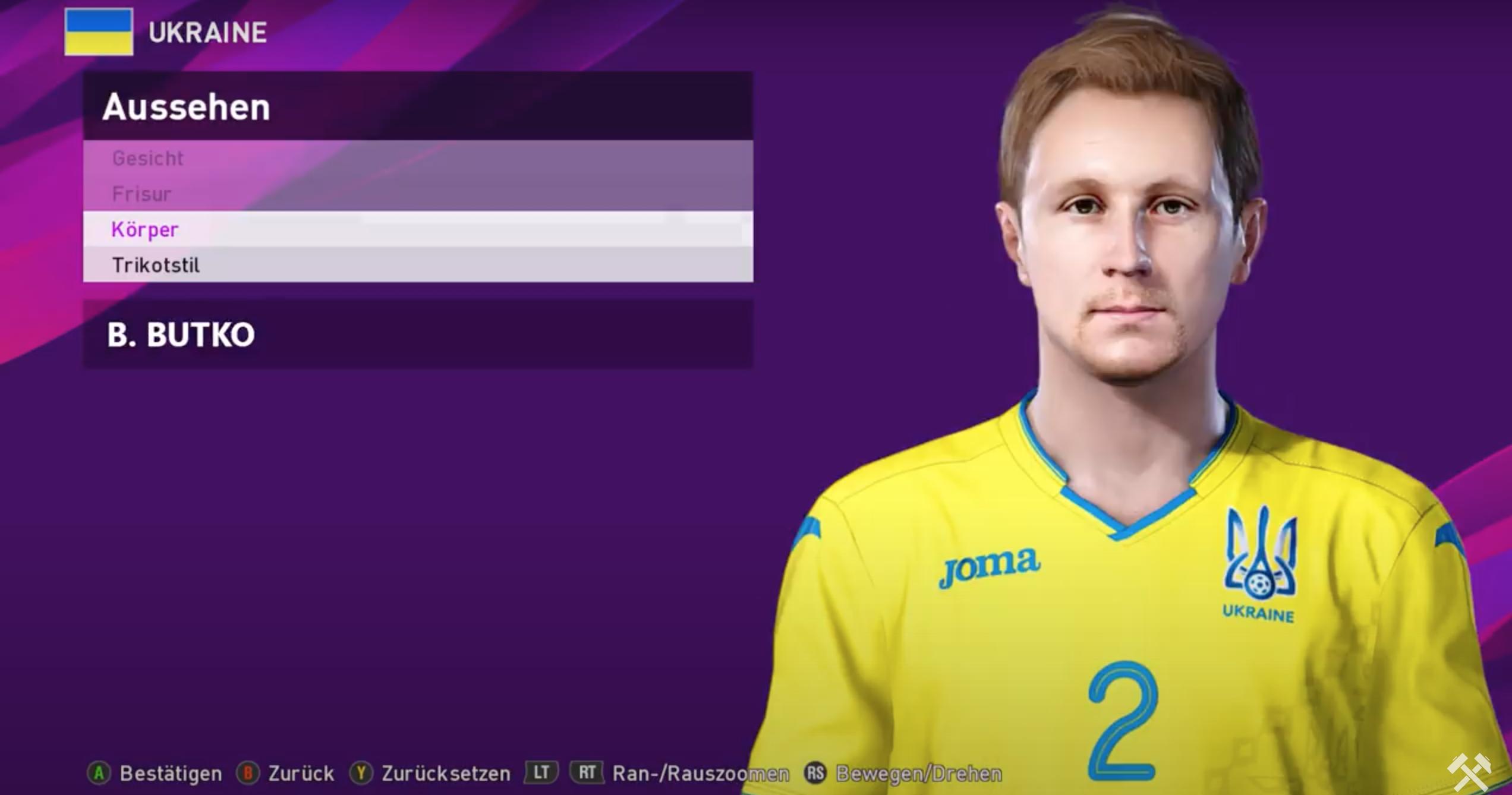 Лунин, Миколенко, Малиновский, Яремчук, Коваленко и еще 5 игроков сборной Украины получили реальные фейсы в PES 2020 - изображение 2