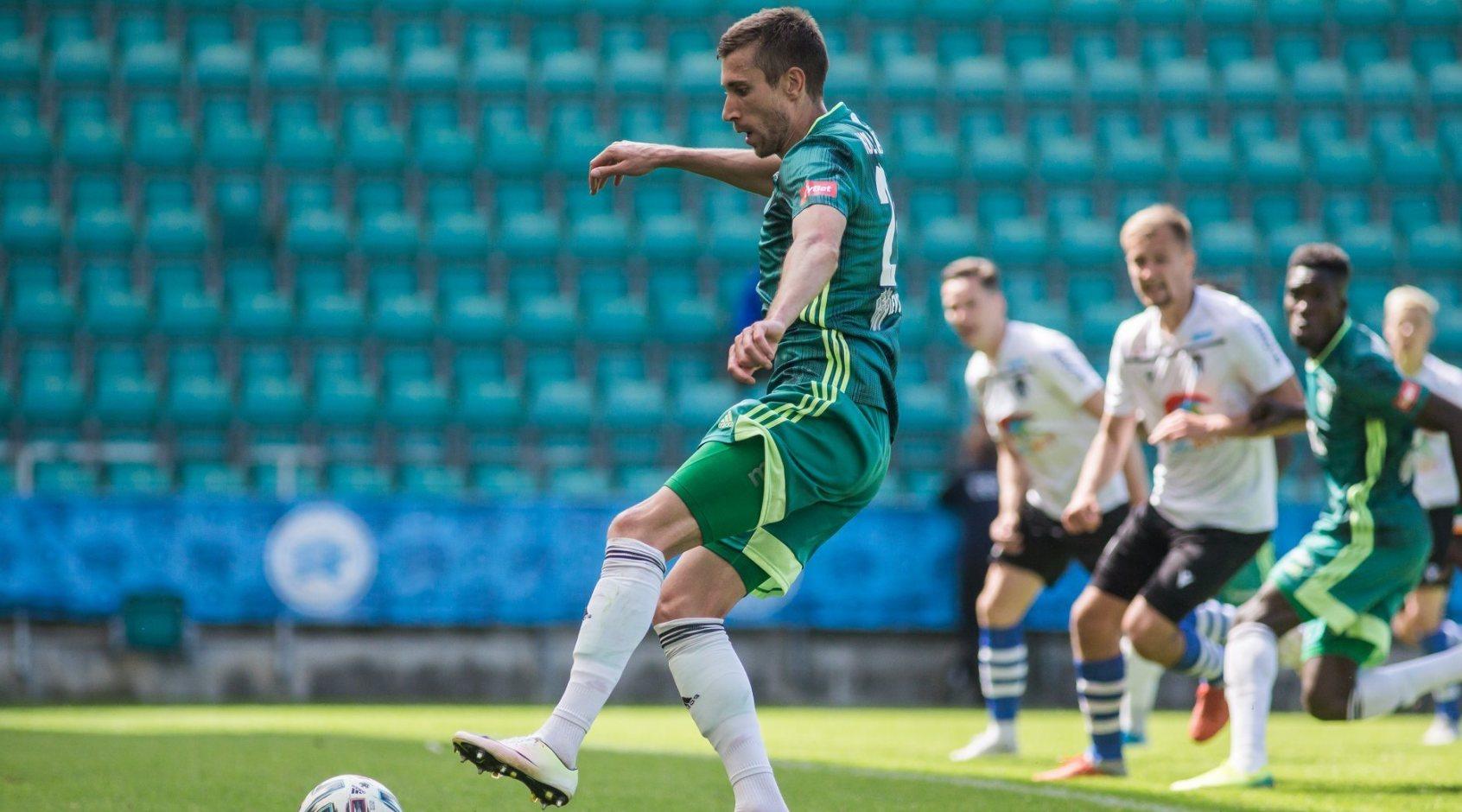 Юрий Коломоец включен в сборную тура чемпионата Эстонии