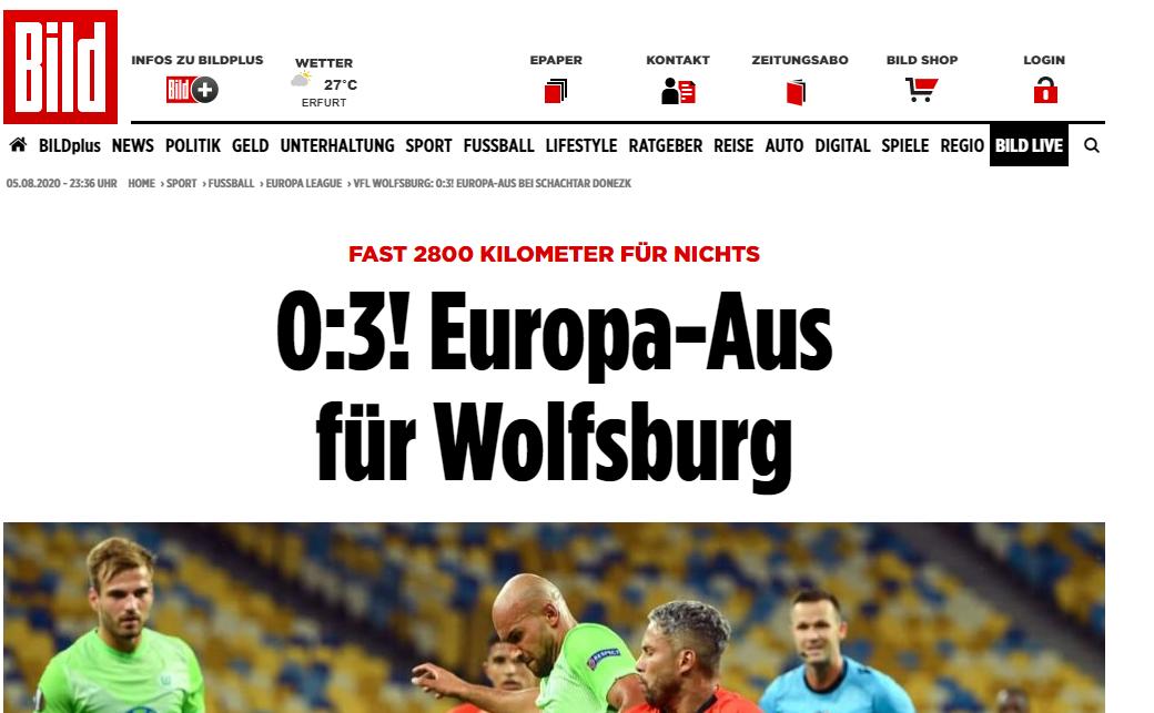 """""""Шахтер"""" - """"Вольфсбург"""": обзор немецких СМИ - изображение 2"""