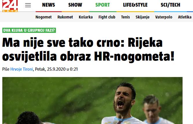 """""""Риека"""" - """"Колос"""": обзор хорватских СМИ - изображение 3"""