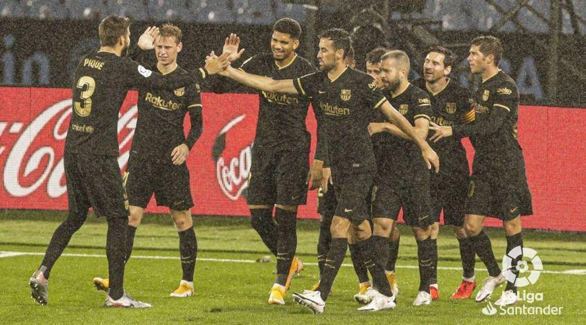 """Чемпионат Испании. 4-й тур. """"Барселона"""" в меньшинстве добывает крупную победу в Виго"""