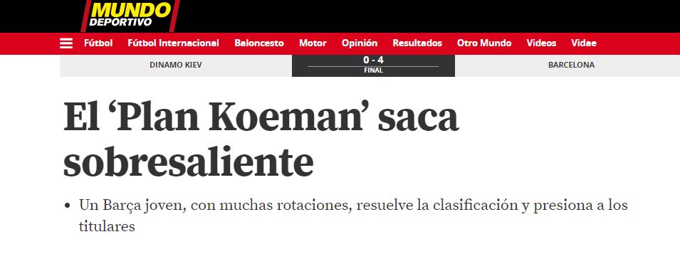 """Динамо"" - ""Барселона"": обзор испанских СМИ - изображение 4"
