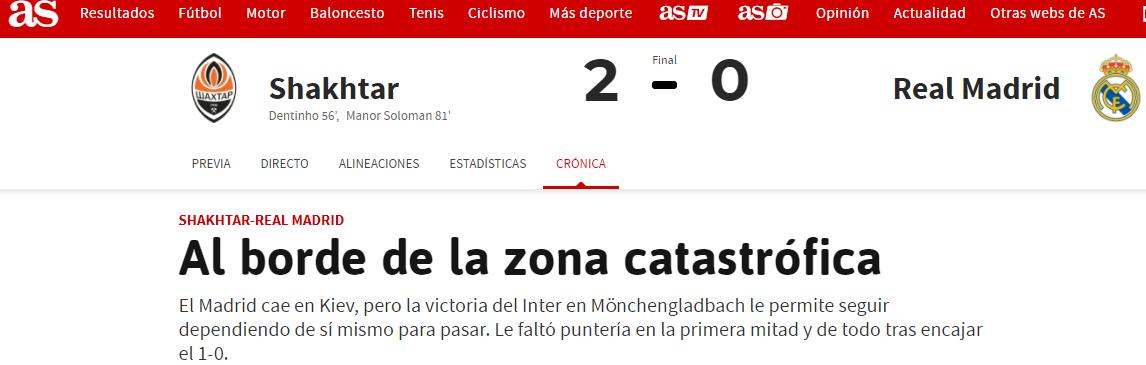 """Шахтер"" - ""Реал"": обзор испанских СМИ - изображение 1"