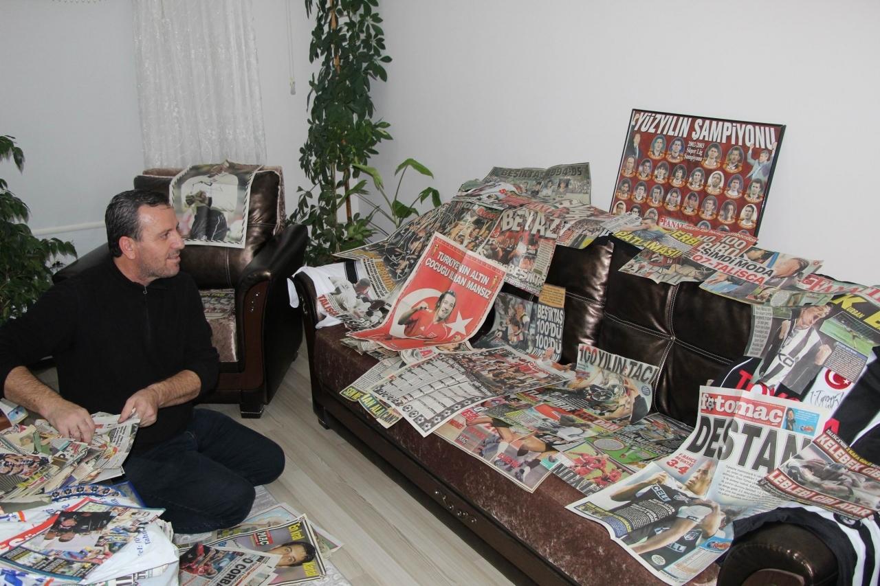 """Фанат """"Бешикташа"""" 35 лет собирает газетные вырезки (+Фото, Видео) - изображение 1"""
