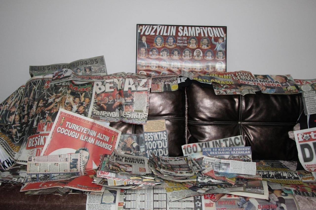 """Фанат """"Бешикташа"""" 35 лет собирает газетные вырезки (+Фото, Видео) - изображение 6"""