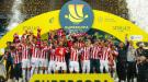 Жертва Лионеля Месси сыграл на трубе во время празднования победы в финале Суперкубка Испании (Видео)