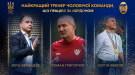 """""""Футбольні зірки України""""-2020: номінація """"Найкращий тренер чоловічої команди, що працює за кордоном"""""""